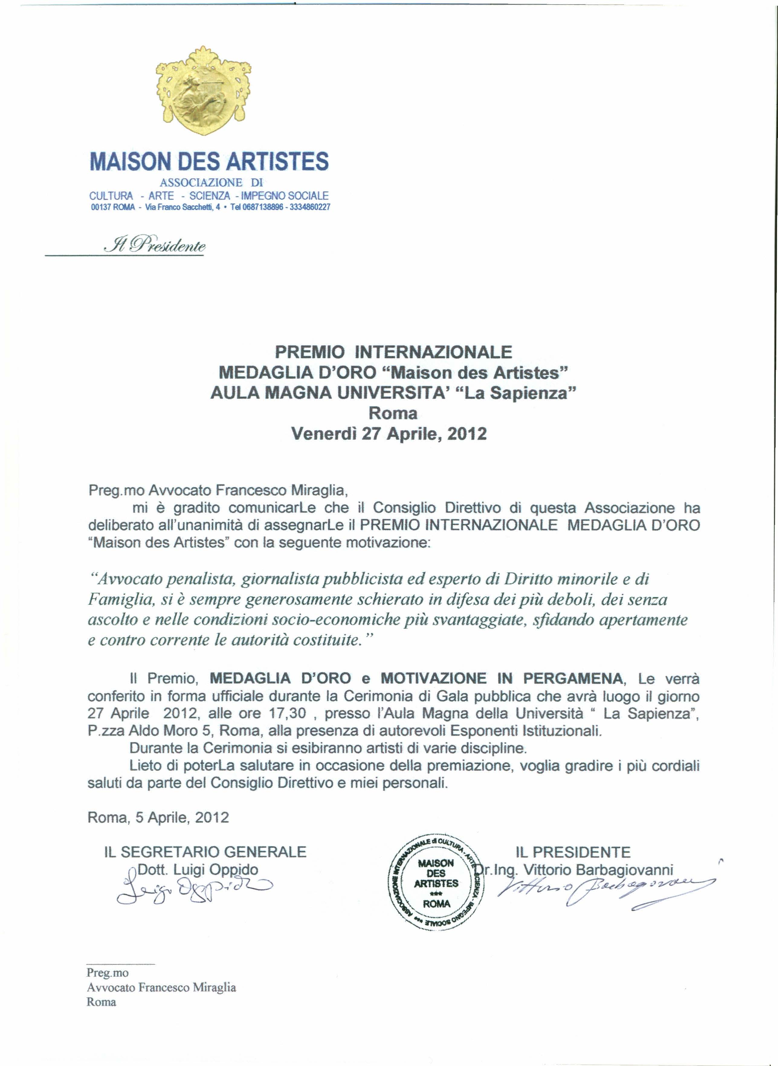 MaisonDesArtistesLetPremMiraglia